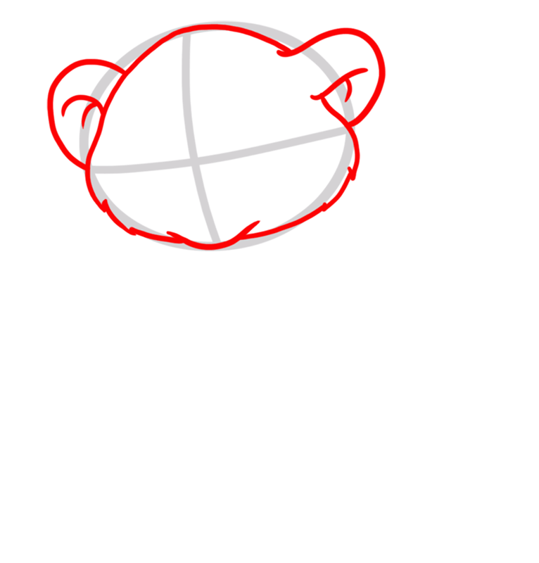 Learn easy to draw Baby Lion step 02