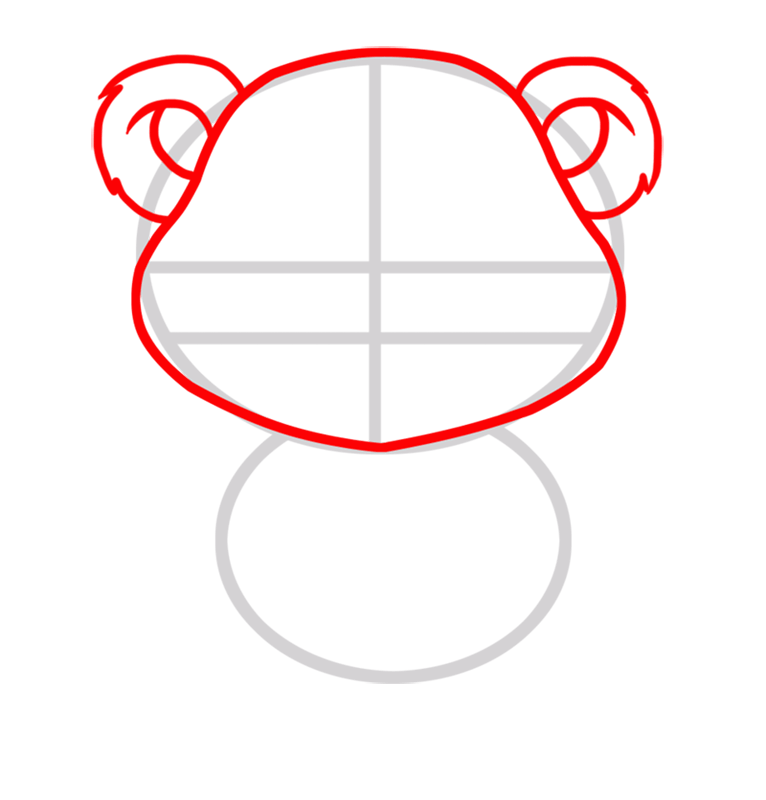 Learn easy to draw Baby Panda step 02