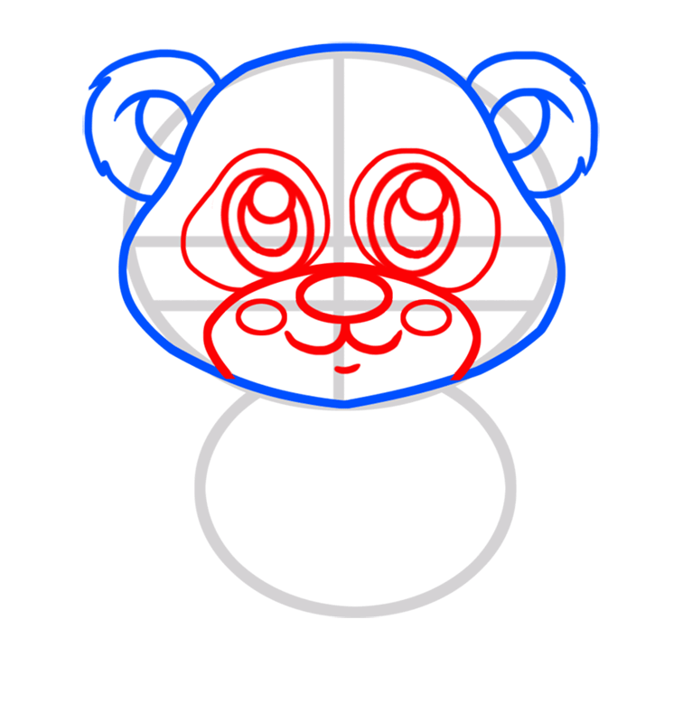 Learn easy to draw Baby Panda step 03