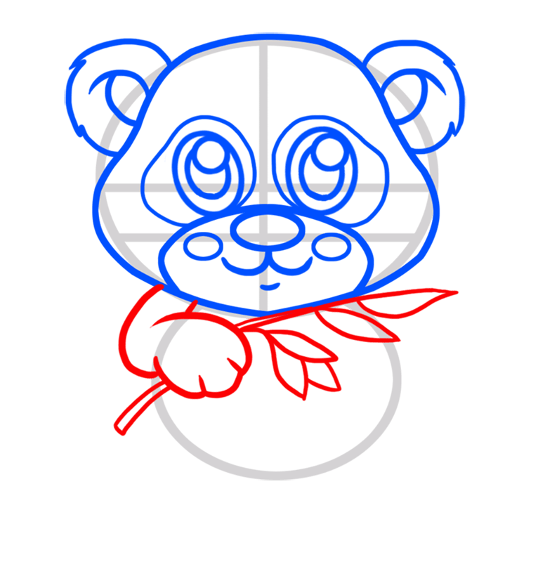 Learn easy to draw Baby Panda step 04