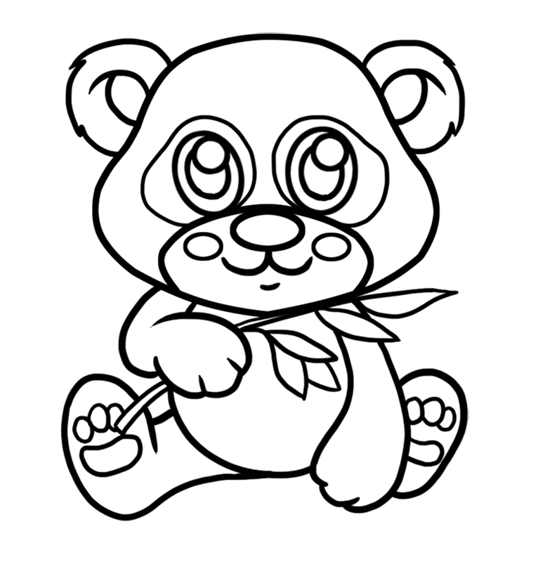 Learn easy to draw Baby Panda step 07