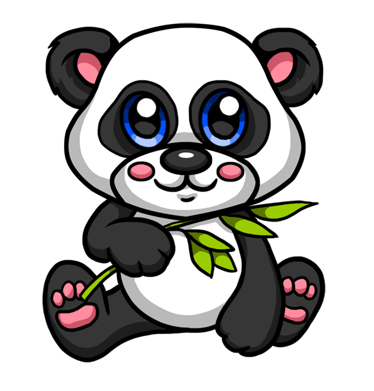 Learn easy to draw Baby Panda step 08