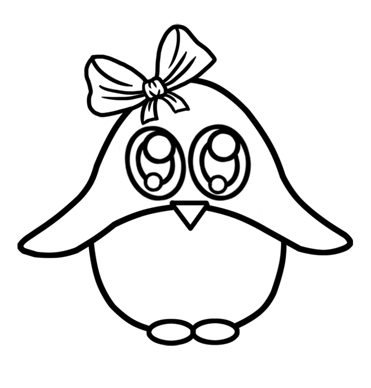 Learn easy to draw Baby Pinguin step 05