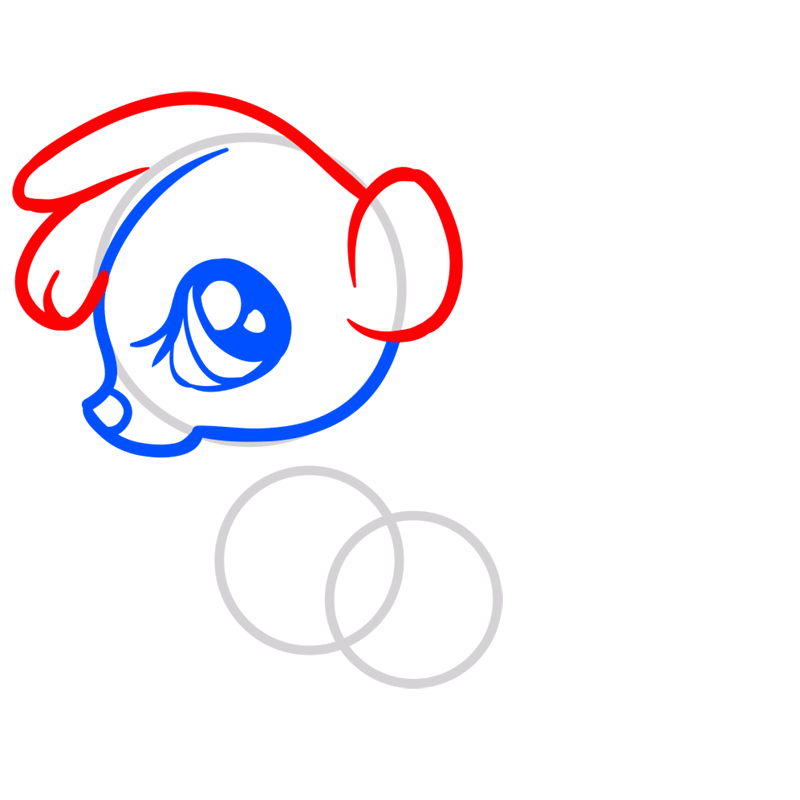 Learn easy to draw Baby Skunk step 04