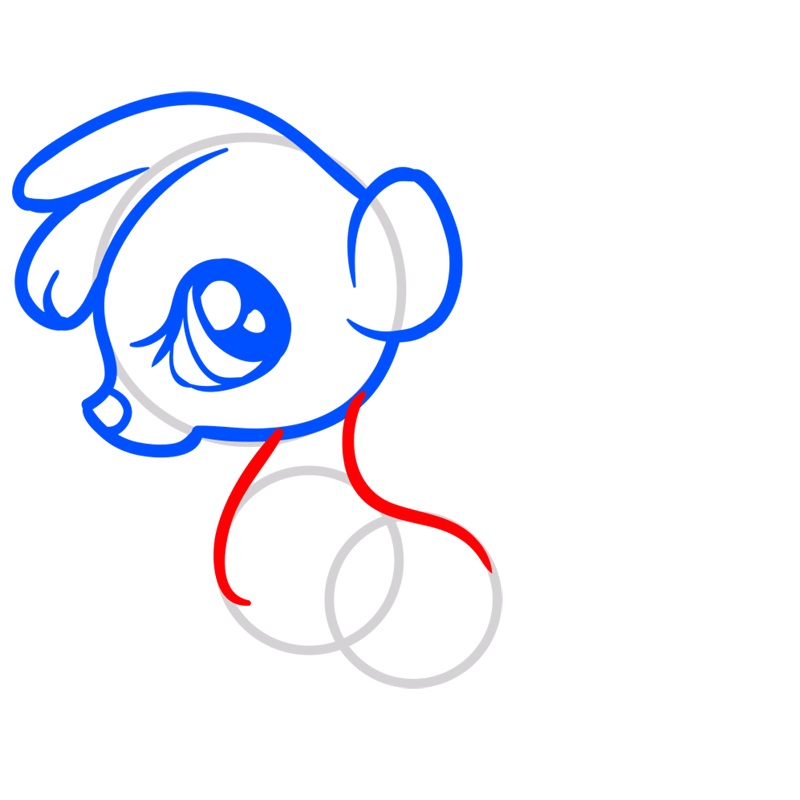 Learn easy to draw Baby Skunk step 05