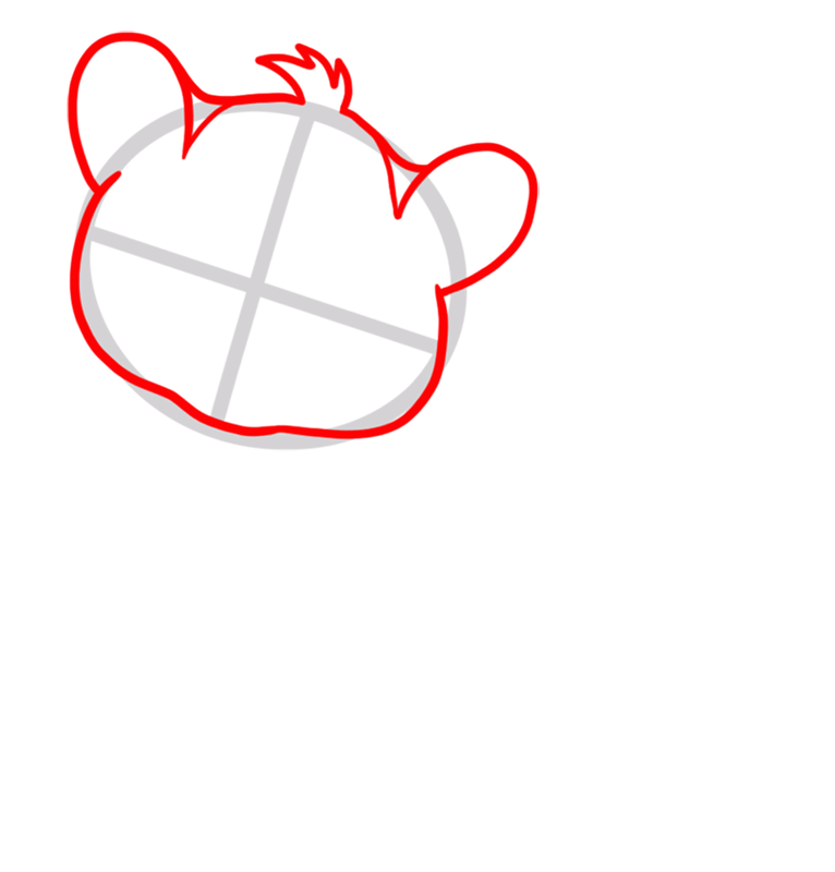 Learn easy to draw Baby Tiger step 02