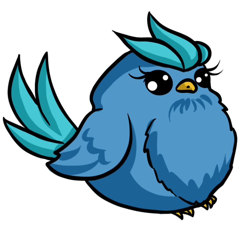 Learn easy to draw Blue Bird step 09