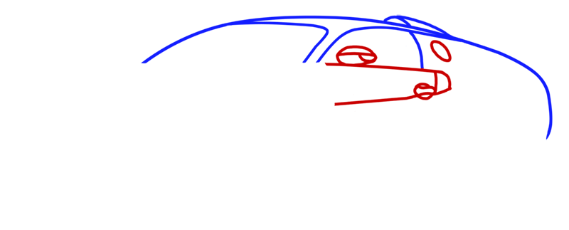 Learn easy to draw Bugatti Veyron step 03