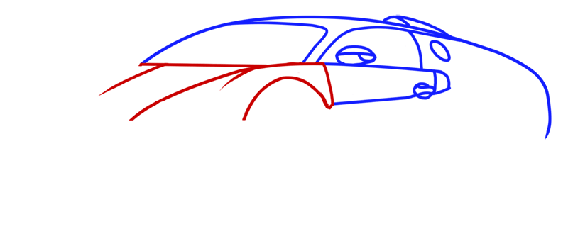 Learn easy to draw Bugatti Veyron step 04