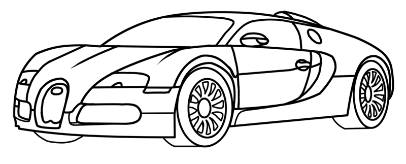 Learn easy to draw Bugatti Veyron step 15