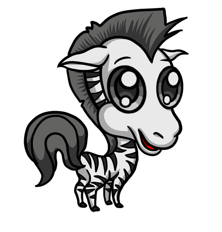 Learn easy to draw Chibi Zebra step 00
