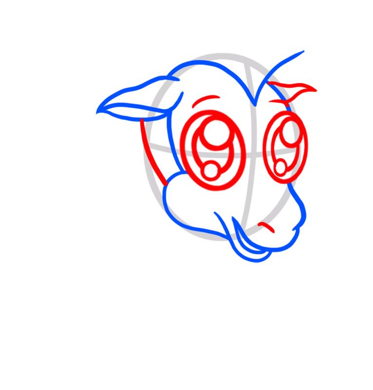 Learn easy to draw Chibi Zebra step 03