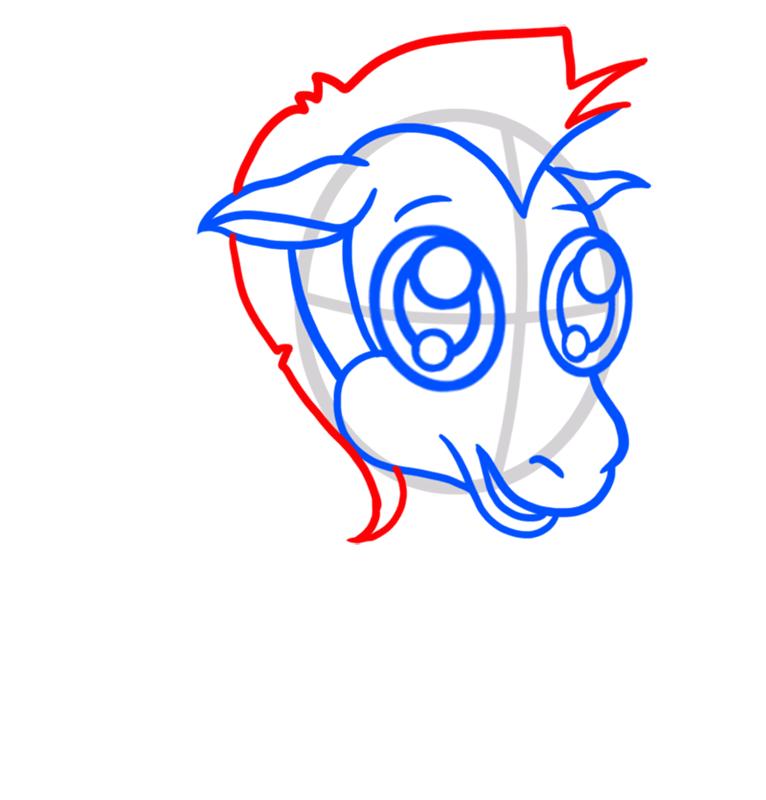 Learn easy to draw Chibi Zebra step 04