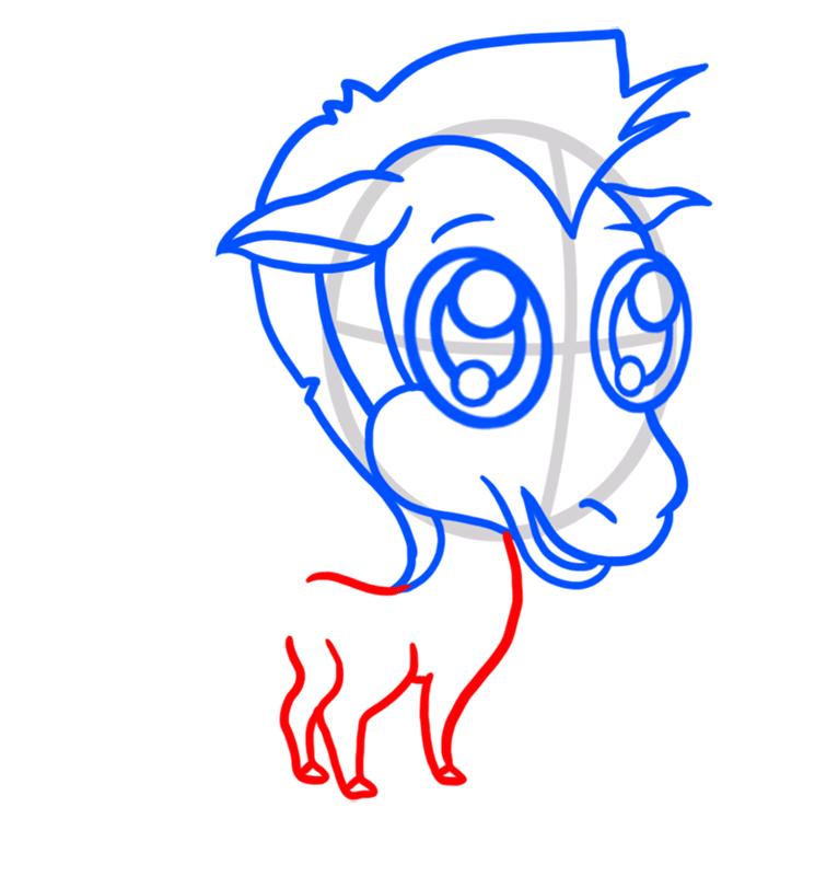 Learn easy to draw Chibi Zebra step 05
