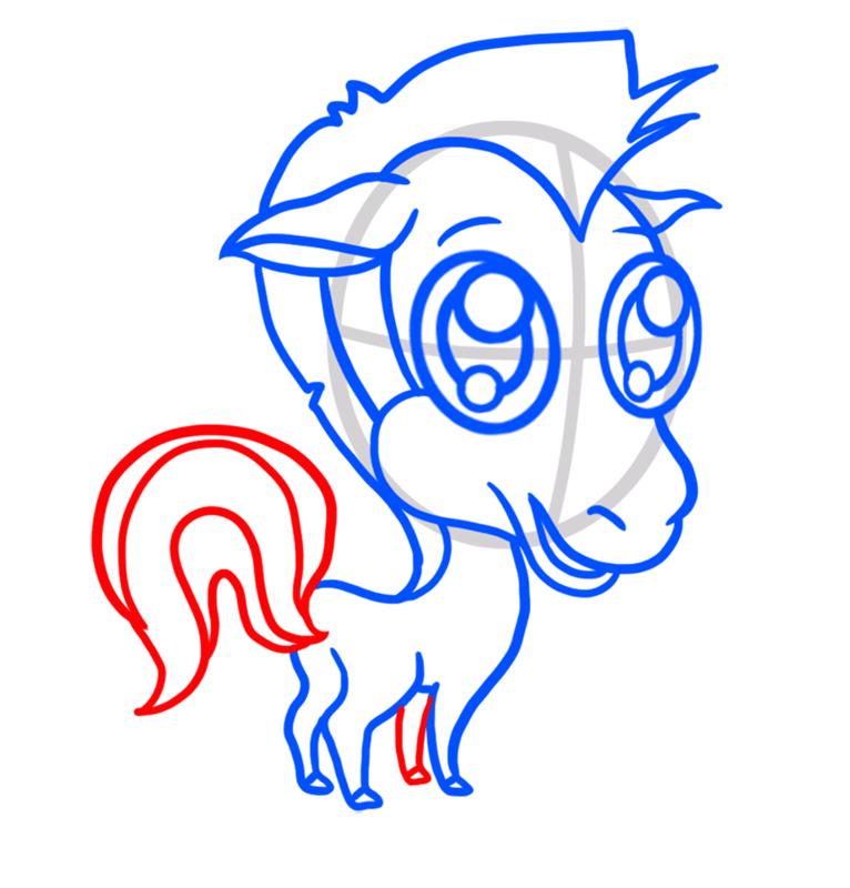 Learn easy to draw Chibi Zebra step 06