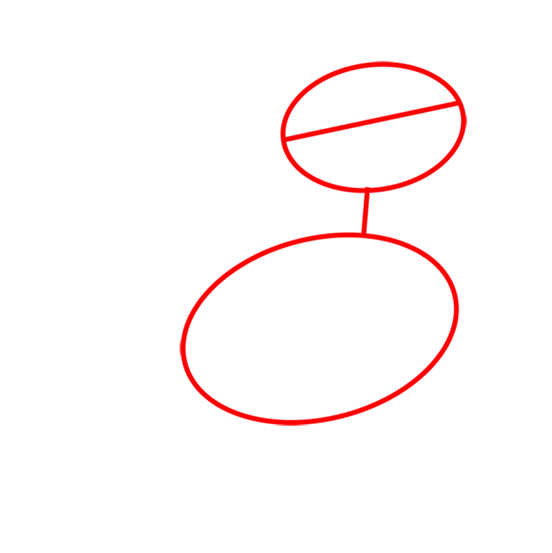 Learn easy to draw Chicken step 01