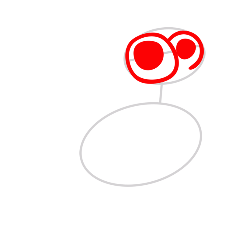 Learn easy to draw Chicken step 02