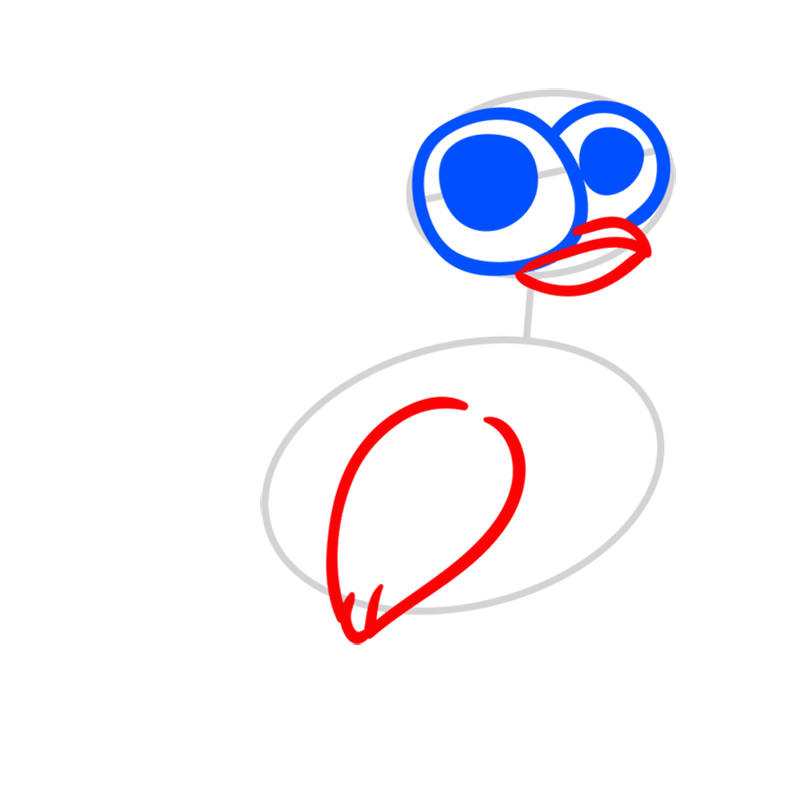 Learn easy to draw Chicken step 03