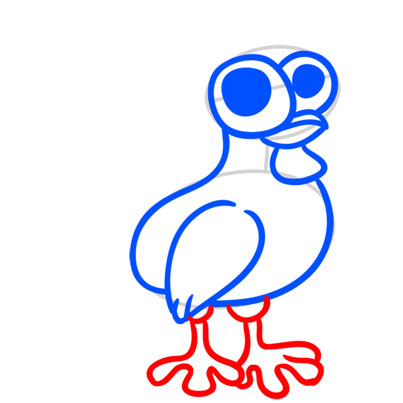 Learn easy to draw Chicken step 05