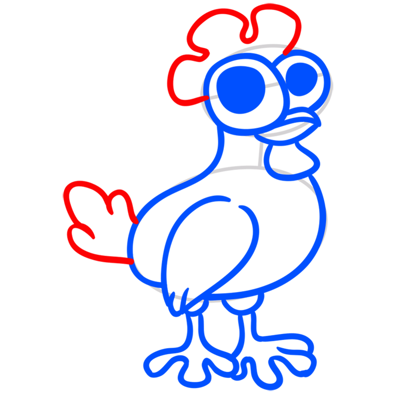 Learn easy to draw Chicken step 06