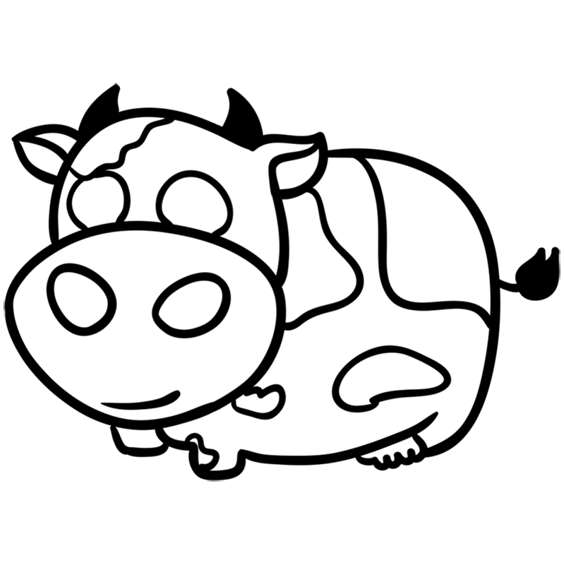 How To Draw A Cute Cow With 09 Simple Steps Easy Draw Everything