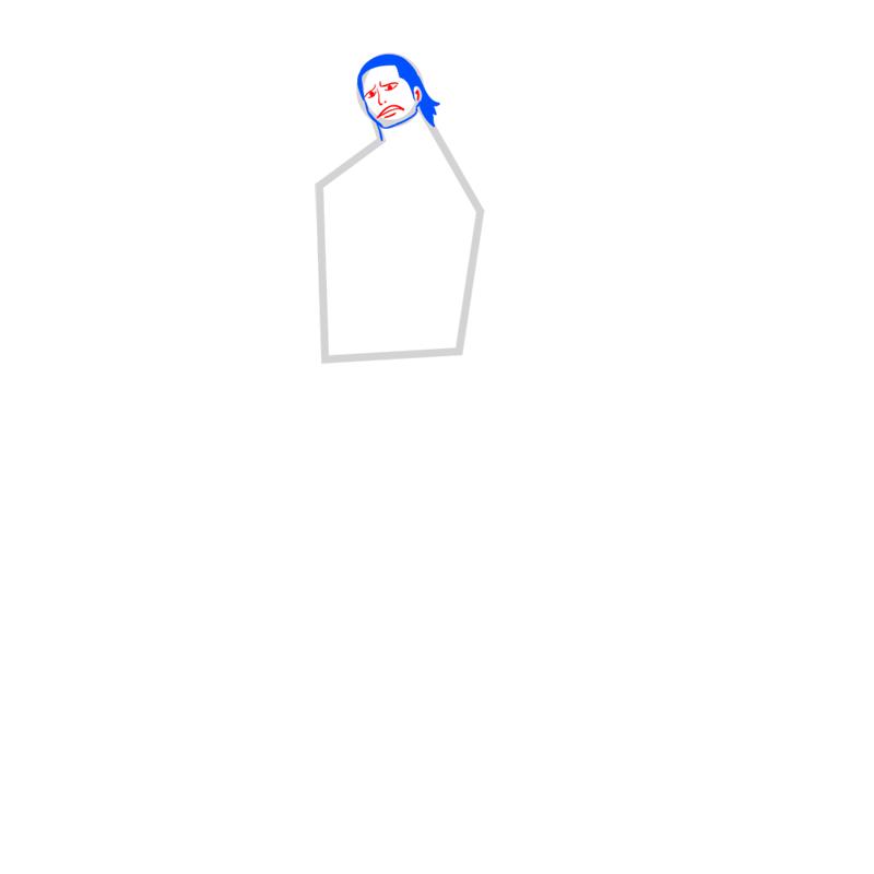 Learn easy to draw Crocodile One Piece step 04