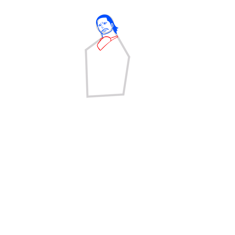 Learn easy to draw Crocodile One Piece step 05