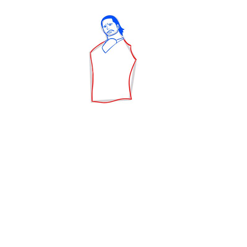 Learn easy to draw Crocodile One Piece step 06