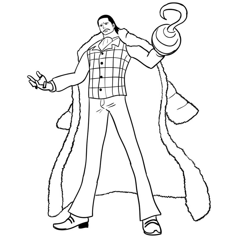 Learn easy to draw Crocodile One Piece step 15