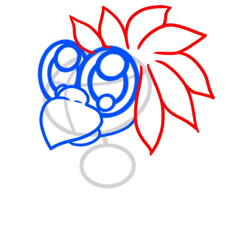 Learn easy to draw Cute Blue Parrot step 04