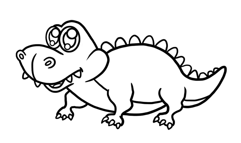 Learn easy to draw Cute Crocodile step 07