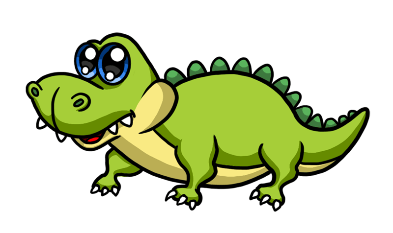 Learn easy to draw Cute Crocodile step 08