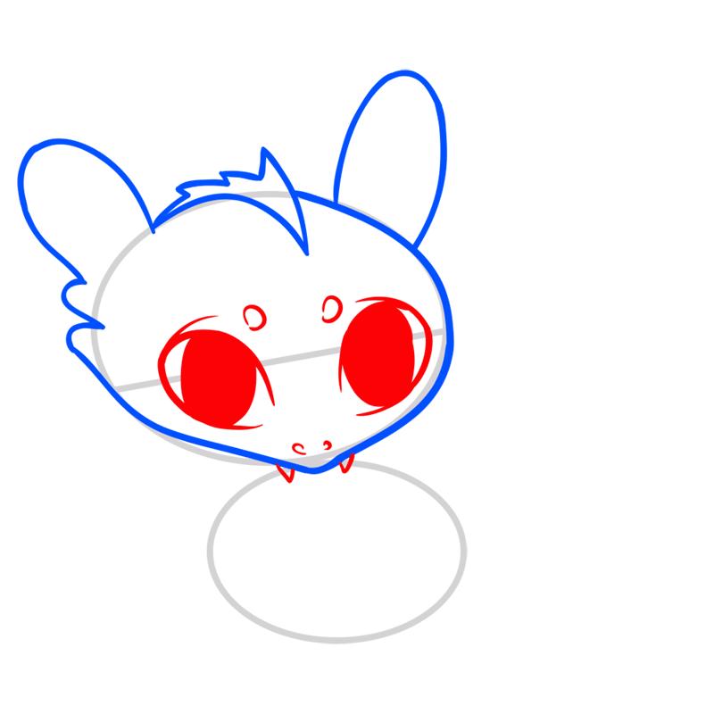 Learn easy to draw Cute Dragon step 04