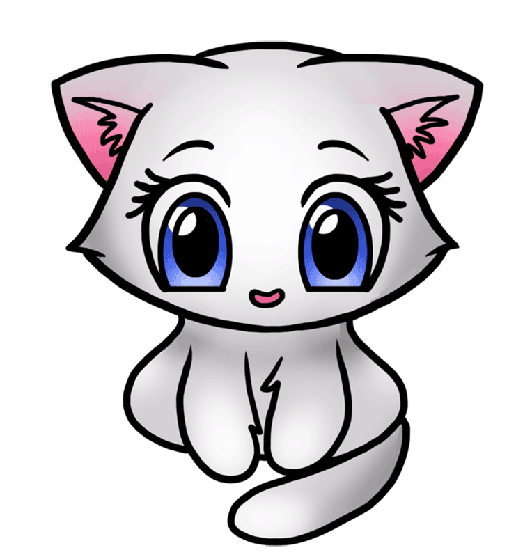 Learn How To Draw Cute Kitten Easy To Draw Everything