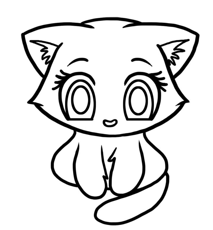 Learn easy to draw Cute Kitten step 05