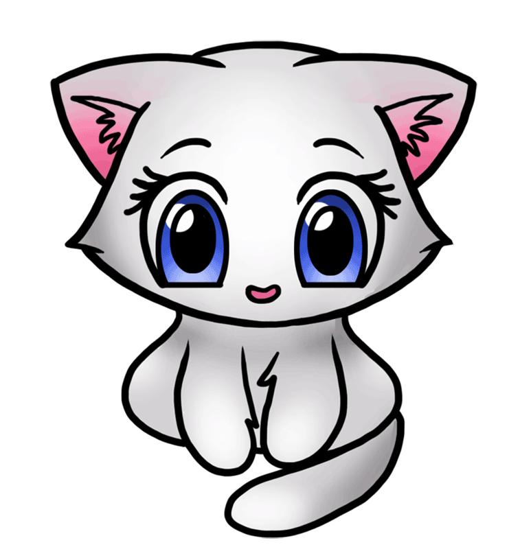 Learn easy to draw Cute Kitten step 06
