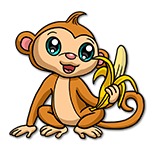 Learn easy to draw Cute Monkey icon