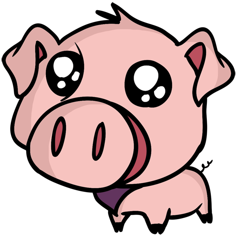 Learn easy to draw Cute Pig step 10