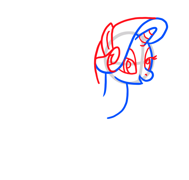 Learn easy to draw Cute Pony step 03