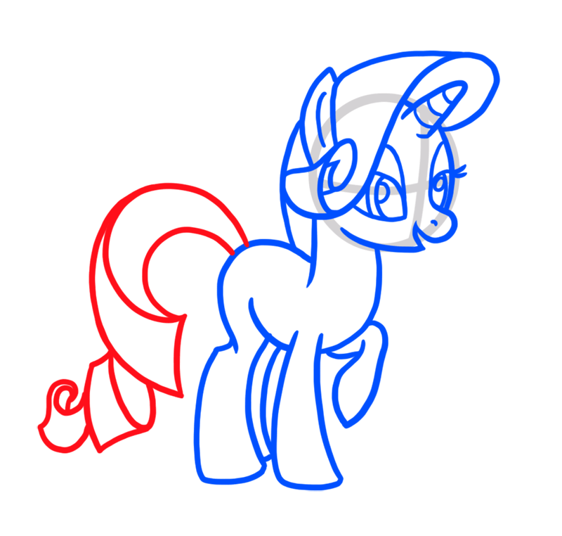 Learn easy to draw Cute Pony step 05