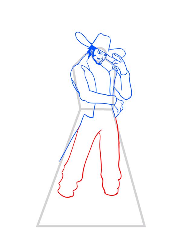 Learn easy to draw Dracule Mihawk One Piece step 09