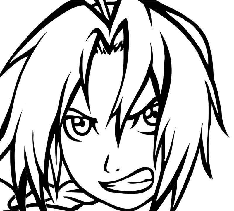 Learn easy to draw Edward Elric Fullmetal Alchemist step 06
