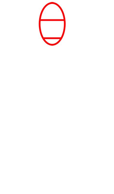 Learn easy to draw Faceles Kaonashi Ghibli Characters step 01