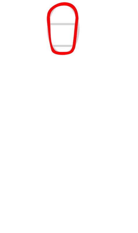 Learn easy to draw Faceles Kaonashi Ghibli Characters step 02