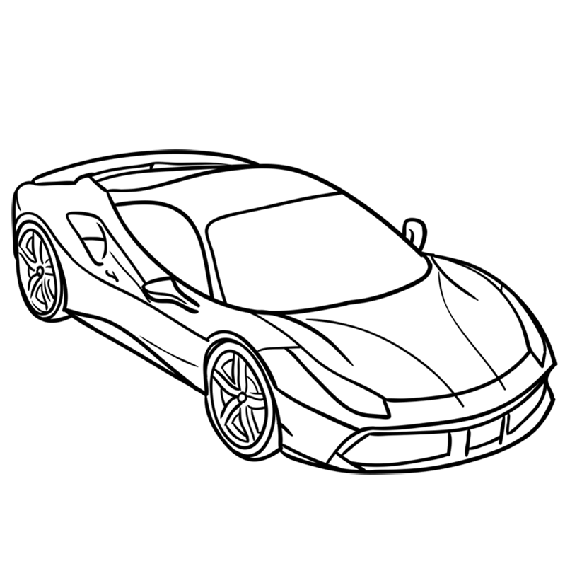 Learn easy to draw Ferrari 488 GTB step 08