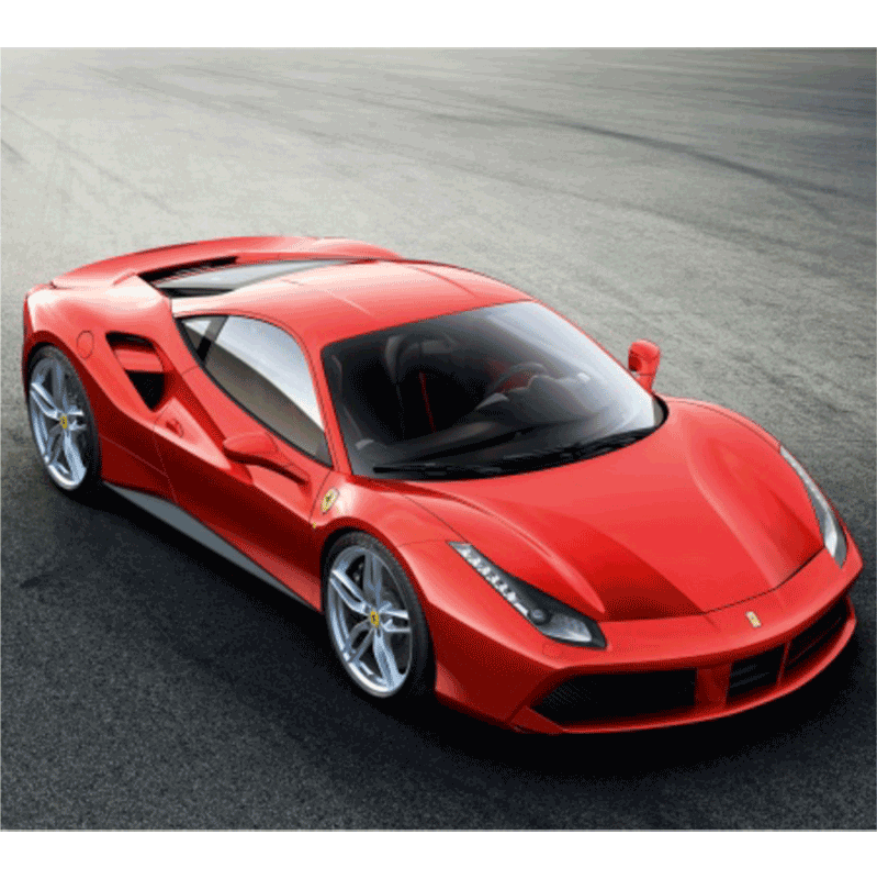 Learn easy to draw Ferrari 488 GTB step 09