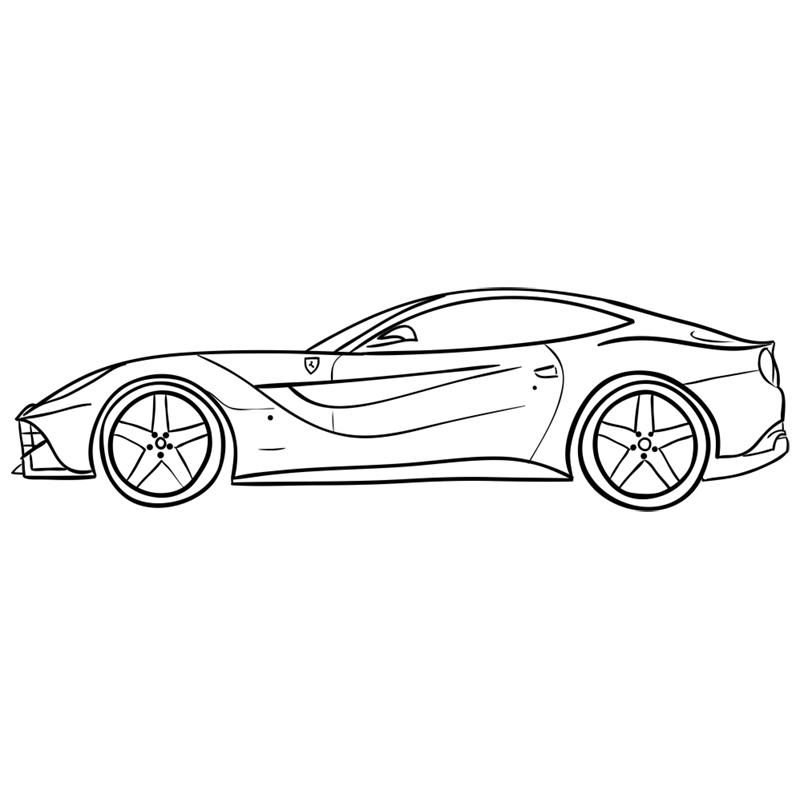 Learn easy to draw Ferrari F12 step 13