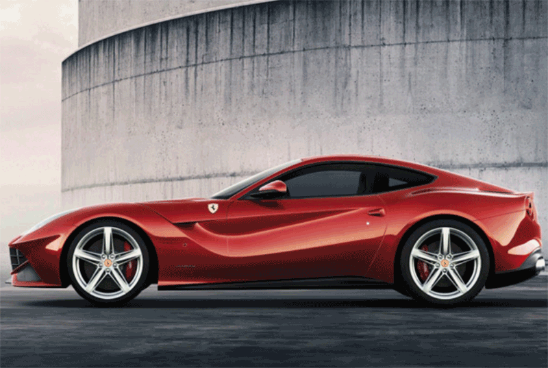 Learn easy to draw Ferrari F12 step 14