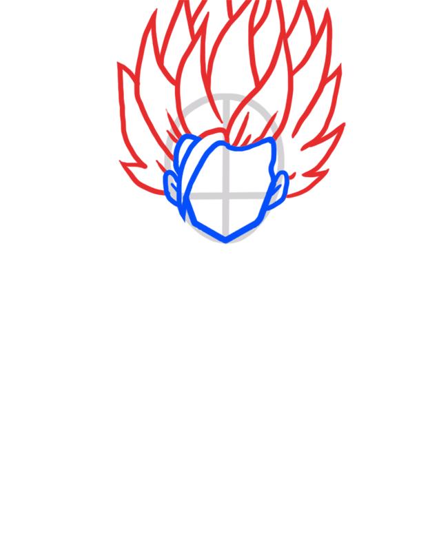 Learn easy to draw Gohan Dragon Ball Z step 03