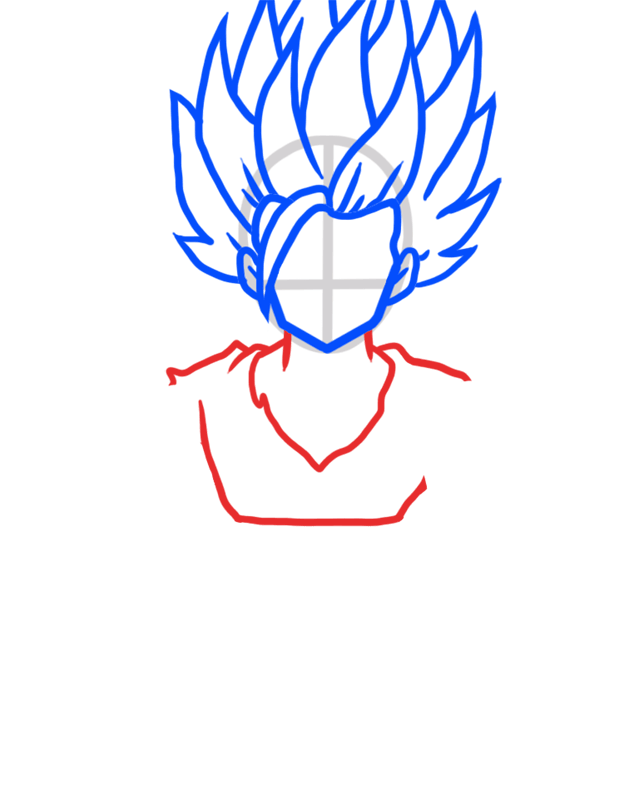 Learn easy to draw Gohan Dragon Ball Z step 04